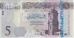 BILLETE DE LIBIA DE 5 DINARS DEL AÑO 2015 SIN CIRCULAR-UNCIRCULATED (BANKNOTE) - Libia
