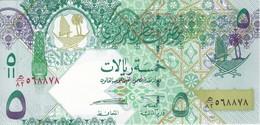 BILLETE DE QATAR DE 5 RIYALS DEL AÑO 2008 (BANKNOTE) CAMELLO-CAMEL-ORIX DEER (SIN CIRCULAR-UNCIRCULATED) - Qatar
