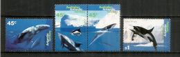 Baleines Et Dauphins. 4 Timbres Neufs **  De L'Antarctique Australien. - Territoire Antarctique Australien (AAT)