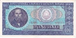 BILLETE DE RUMANIA DE 100 LEI DEL AÑO 1966 EN CALIDAD EBC (XF) (BANKNOTE) - Rumania