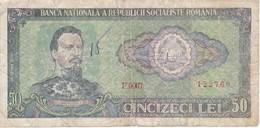 BILLETE DE RUMANIA DE 50 LEI DEL AÑO 1966  (BANKNOTE) - Rumania