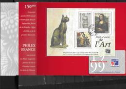 23   OBL  Y & T  3 Scans Philexfrance  99 « Chefs-d'œuvre De L'art »   26/35 - Used