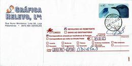 Portugal , Bird , Oiseau , Blue Rock Thrush , Monticola Solitarius , CTC LISBOA 1949 Postmark , Return To Sender Label - Birds