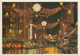 JOHANNESBURG, Dazzling Night Scene Of Golden City In Festive Dress, South Africa, 1967 Used Postcard [22063] - South Africa