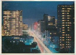JOHANNESBURG By Night, South Africa, 1966, Used Postcard [22065] - Afrique Du Sud