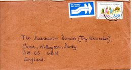 ZIMBABWE. N°377 De 1997 Sur Enveloppe Ayant Circulé. Aspect De La Vie Rurale. - Zimbabwe (1980-...)