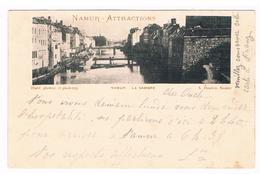 CPA Pionnière Dos Non Divisé : NAMUR Attractions - La Sambre  Par A. Dandoy - 1895 - Namur