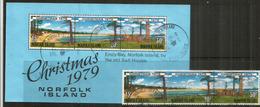 Noël à La Plage à L'île NORFOLK,   Série + Bloc-feuillet Oblitéré, 1 ère Qualité - Norfolk Island