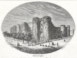 GRAVURE De 1857...Château D'ANGERS (49) - Estampes & Gravures
