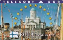 Denmark, P 082, Ecu - Finland, Flag, Mint Only 700 Issued, 2 Scans. - Denmark
