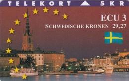 Denmark, P 083, Ecu - Sweden, Flag, Mint Only 700 Issued, 2 Scans. - Denmark