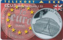 Denmark, P 094, Ecu - England, Coins, Flag, Mint Only 1000 Issued, 2 Scans. - Denmark