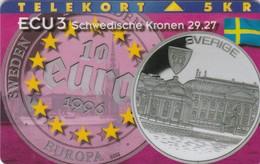 Denmark, P 099, Ecu - Sweden, Coins, Flag, Mint Only 1000 Issued, 2 Scans. - Denmark