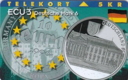 Denmark, P 105, Ecu - Germany, Coins And Flag, Mint Only 1000 Issued, 2 Scans. - Denmark
