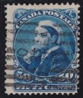 Canada   .     Yvert  .    37      .    O .           Gebruikt  .     /   .   Cancelled - 1851-1902 Regering Van Victoria