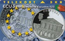 Denmark, P 106,  ECU-Portugal,  Mint, Only 1000 Issued, Coin, Flag. - Denmark