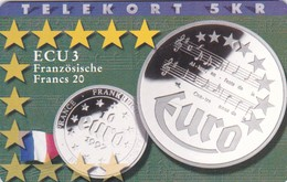 Denmark, P 162, Ecu - France, Mint, Only 700 Issued, 2 Scans.  Please Read - Denmark