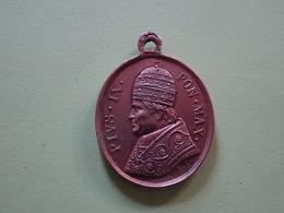 Médaille Cuivre Vatican – Pape Pie IX Supra Firmam Petram Pius IX Romae (env. 1850) RARE, Chrétien, Catholique - Other
