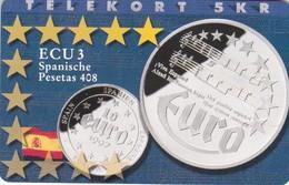 Denmark, P 182, Ecu - Spain, Mint, Only 700 Issued, 2 Scans.  Please Read - Denmark