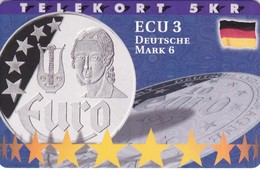 Denmark, P 191, Ecu - Germany, Mint, Only 700 Issued, 2 Scans.  Please Read - Denmark