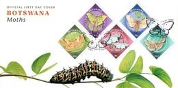 Botswana - 2000 Moths FDC # SG 915-919 - Insetti