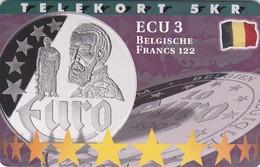 Denmark, P 193, Ecu - Belgium, Mint, Only 700 Issued, 2 Scans.  Please Read - Denmark