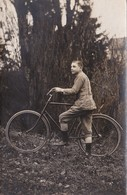 CPA-PHOTO Garçon Avec Son Vélo Bicyclette Cyclisme Cycling Radsport Maurice CHÂTELOT à VERZE (71) Carte-Photo - Altri