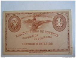 Guatemala Entier Postal Stationary Carte Postale - Guatemala