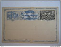 Guatemala Entier Postal Stationary Carte Postale Train Bateau - Guatemala