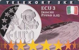Denmark, P 199, ECU-Ireland, Mint, Only 800 Issued, Coins, Flag. - Denmark