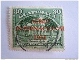 Guatemala 1931 Timbre De 1929 Surchargé Yv Aérien 15 O - Guatemala
