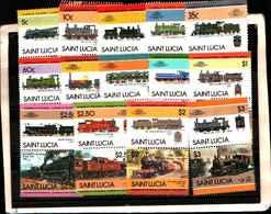 73300)  SANTA LUCIA-LOTTO FRANCOBOLLI -MNH**-LOCOMOTIVE - St.Lucia (1979-...)