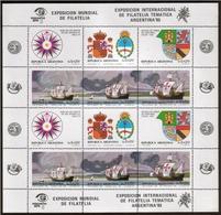 Argentina - 1984 - Exposition Philatelique Internationale - Bateaux - Ships - Yvert 1410 / 1415 - Argentina