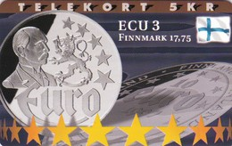 Denmark, P 202, Ecu - Finland, Mint, Only 800 Issued, 2 Scans.  Please Read - Denmark