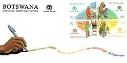 Botswana - 2000 UN Literacy Decade FDC # SG 921-924 - ONU