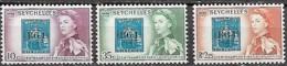 Seychelles 1961 Centenaire Premier Bureau Poste Dans L'archipel, 3 Val Mnh - Seychelles (1976-...)