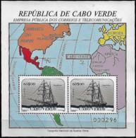 Cabo Verde Cape Verde Cap Vert 1987 Voilier Sailing Ship, 1 SS Mnh - Cape Verde