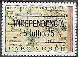 Cabo Verde Cape Verde Cap Vert 1975 Independência Indépendance Independence Surcharge OVPT, 1 Val Mnh - Cap Vert