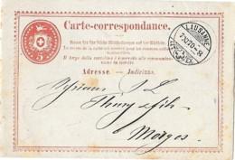 27 - 39 - Entier Postal Avec Superbe Cachet à Date  Lausanne 1870 - Ganzsachen