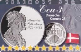 Denmark, P 219, Ecu - Denmark, Mint, Only 800 Issued, 2 Scans.  Please Read - Denmark
