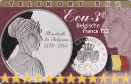Denmark, P 220, Ecu - Belgium, Mint, Only 800 Issued, 2 Scans.  Please Read - Denmark