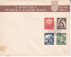 3053  - HRVATSKA   ZAGREB   FDC  1944 - Croazia