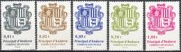 Andorra Español 2014 Yvert 399 - 403 Neuf ** Cote (2015) 5.10 Euro Armoiries - Andorre Espagnol