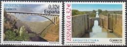 España 2009 Michel 4440 - 4441 Neuf ** Cote (2010) 1.40 Euro Architecture Pont De Los Tilos / Canal De Castilla - 1931-Aujourd'hui: II. République - ....Juan Carlos I