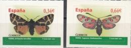 España 2010 Michel 4475 - 4476 Neuf ** Cote (2010) 2.00 Euro Papillons - 1931-Aujourd'hui: II. République - ....Juan Carlos I