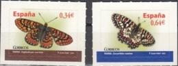 España 2010 Michel 4493 - 4494 Neuf ** Cote (2010) 2.00 Euro Papillons - 1931-Aujourd'hui: II. République - ....Juan Carlos I