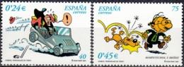 España 2001 Michel 3674 - 3675 Neuf ** Cote (2008) 1.40 Euro Bande Dessinée - 1931-Aujourd'hui: II. République - ....Juan Carlos I