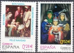 España 2005 Michel 4086 - 4087 Neuf ** Cote (2008) 1.70 Euro Noël - 1931-Aujourd'hui: II. République - ....Juan Carlos I