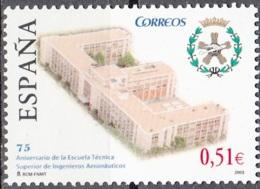 España 2003 Michel 3885 Neuf ** Cote (2008) 1.00 Euro 75 Ans Académie Pour L'aviation à Madrid - 1931-Aujourd'hui: II. République - ....Juan Carlos I