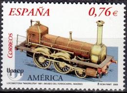 España 2003 Michel 3886 Neuf ** Cote (2008) 1.50 Euro UPAEP Locomotive à Vapeur La Madrileña - 1931-Aujourd'hui: II. République - ....Juan Carlos I
